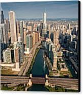Chicago River Aloft Canvas Print