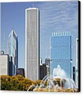 Chicago Skyline From Millenium Park Iv Canvas Print by Christine Till