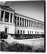 Chicago Solider Field Black And White Picture Canvas Print by Paul Velgos