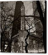 Chicago Water Tower B W Canvas Print by Steve Gadomski