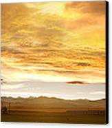 Chicken Farm Sunset 2 Canvas Print by James BO  Insogna