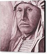 Chief Red Tomahawk Canvas Print by Billie Bowles