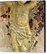 Child Sculpture With Garpes Canvas Print by Linda Phelps