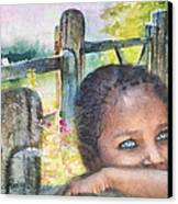 Childhood Triptic Canvas Print by Mo T