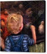 Children - Look At The Baby Canvas Print by Mike Savad