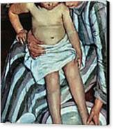 Child's Bath Canvas Print by Mary Cassatt