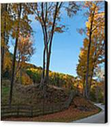Chillin' On A Dirt Road Canvas Print by Bill Wakeley