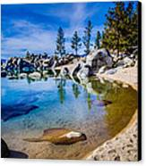 Chimney Beach Lake Tahoe Shoreline Canvas Print by Scott McGuire