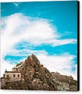 Chiu Monastery Near Lake Manosarovar Canvas Print by Raimond Klavins