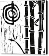 Cho Ku Rei And Bamboo Canvas Print by Lynn-Marie Gildersleeve