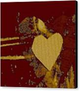 Chocolate-heart Canvas Print by Dorothy Rafferty