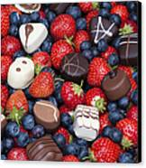 Chocolates And Strawberries Canvas Print by Tim Gainey