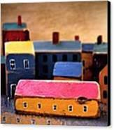 Chopping Block Village Canvas Print by John Grace