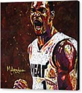 Chris Bosh Canvas Print by Maria Arango