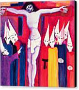 Christ And The Politicians Canvas Print by Laila Shawa