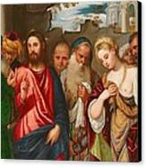 Christ And The Woman Taken In Adultery Canvas Print by Veronese