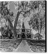 Christ Church Etching Canvas Print by Debra and Dave Vanderlaan