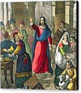 Christ Cleanses The Temple Canvas Print