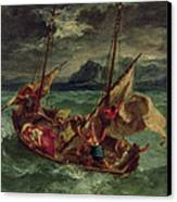 Christ On The Sea Of Galilee Canvas Print by Delacroix