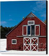 Christmas Barn Canvas Print by Edward Fielding
