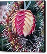 Christmas Baubles Canvas Print by Debra Piro