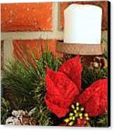 Christmas Candle Canvas Print by Kenneth Sponsler