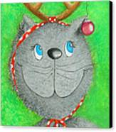 Christmas Cat Canvas Print by Sonja Mengkowski