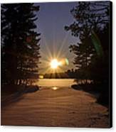 Christmas Day Sunset Canvas Print by RJ Martens