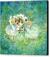 Christmas Fairies Canvas Print by Lynn Bywaters