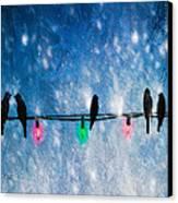 Christmas Lights Canvas Print by Bob Orsillo