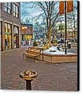 Christmas Old Town Canvas Print by Baywest Imaging