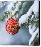 Christmas Ornament Canvas Print by Diane Diederich