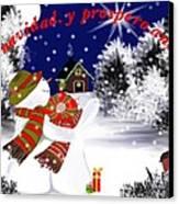 Christmas. Star. Spanish  Canvas Print
