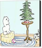 Christmas Toaster Canvas Print by Alan McCormick