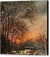Christmas Tree Delivery Canvas Print by Tom Shropshire