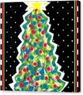 Christmas Tree Polkadots Canvas Print by Genevieve Esson