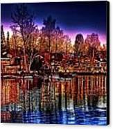 Christmas Twilight Canvas Print by Cary Shapiro