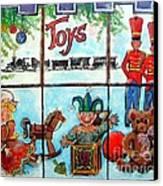 Christmas Window Canvas Print by Linda Shackelford
