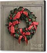 Christmas Wreath Canvas Print by Bernard Jaubert