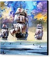 Christopher Columbus's Fleet  Canvas Print