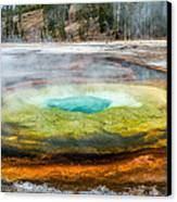 Chromatic Pool Yellowstone Canvas Print by Pierre Leclerc Photography