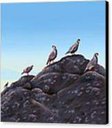 Chuckers - Calling In The Flock Canvas Print by Laird Roberts