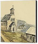 Church At Rejkjavik Iceland 1862 Canvas Print by Aged Pixel