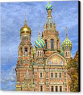 Church Of The Saviour On Spilled Blood. St. Petersburg. Russia Canvas Print by Juli Scalzi