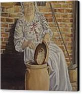 Churning Butter Canvas Print