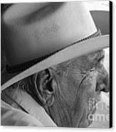 Cigar Maker Remembering His Past Canvas Print by Rene Triay Photography