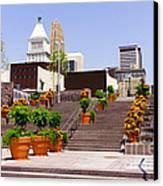 Cincinnati Downtown Central Business District Canvas Print by Paul Velgos