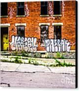 Cincinnati Glencoe Auburn Place Graffiti Photo Canvas Print