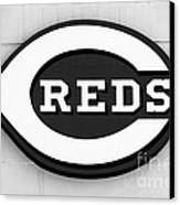 Cincinnati Reds Sign Black And White Picture Canvas Print
