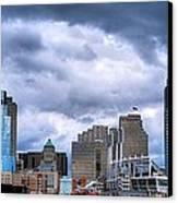 Cincinnati Skyline Clouds Canvas Print by Mel Steinhauer